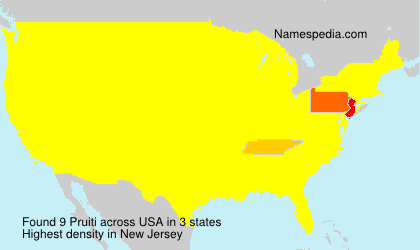 Surname Pruiti in USA