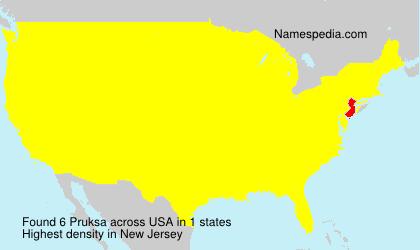 Surname Pruksa in USA