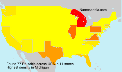 Familiennamen Prusaitis - USA