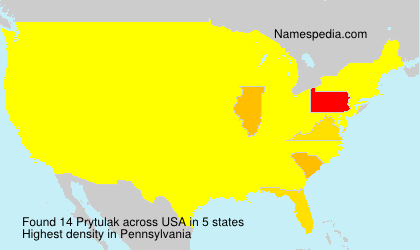 Surname Prytulak in USA