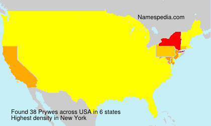 Surname Prywes in USA