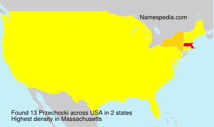 Familiennamen Przechocki - USA