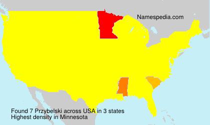 Surname Przybelski in USA