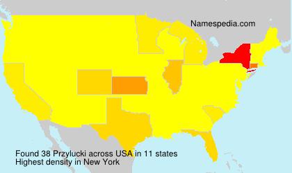Surname Przylucki in USA