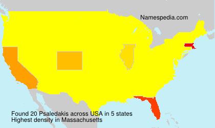 Surname Psaledakis in USA