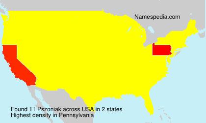 Surname Pszoniak in USA