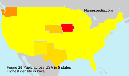 Surname Puelz in USA
