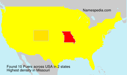 Surname Puers in USA