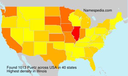 Familiennamen Puetz - USA