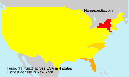 Surname Puiatti in USA