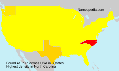 Surname Puih in USA