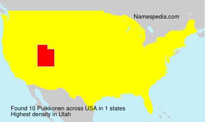 Surname Puikkonen in USA