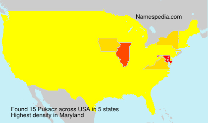 Surname Pukacz in USA