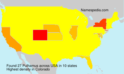 Surname Pulhamus in USA