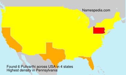 Familiennamen Pulivarthi - USA