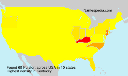 Surname Pulsfort in USA