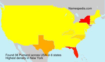 Familiennamen Pumarol - USA