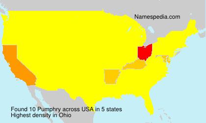 Familiennamen Pumphry - USA