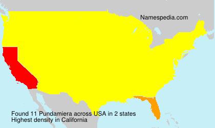 Surname Pundamiera in USA