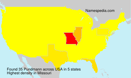 Surname Pundmann in USA