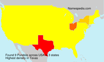 Surname Pundole in USA