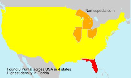 Surname Puntal in USA