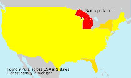 Surname Puraj in USA
