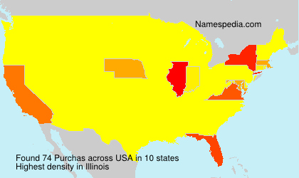 Surname Purchas in USA