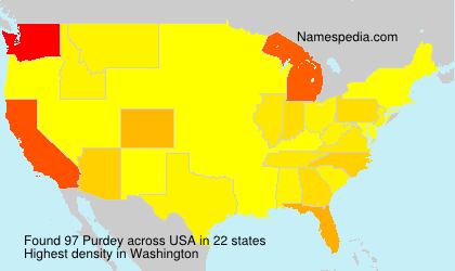 Surname Purdey in USA