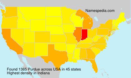 Familiennamen Purdue - USA