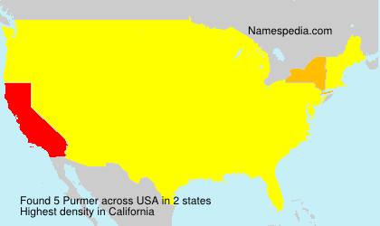 Surname Purmer in USA