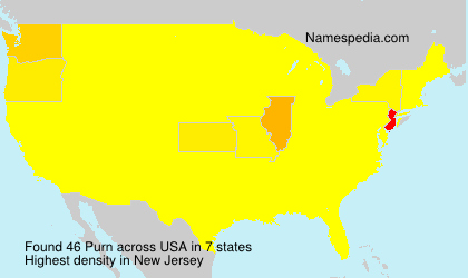 Surname Purn in USA