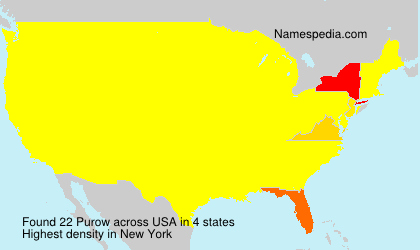 Surname Purow in USA