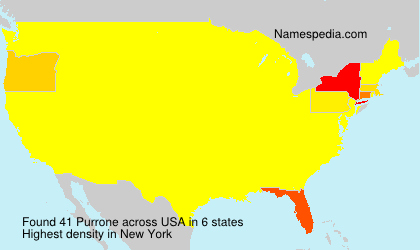 Surname Purrone in USA