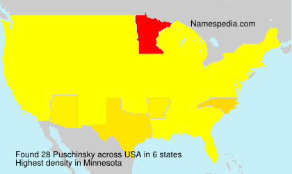Surname Puschinsky in USA