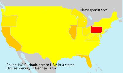 Surname Puskaric in USA