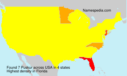 Surname Puskur in USA