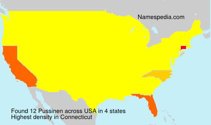 Surname Pussinen in USA