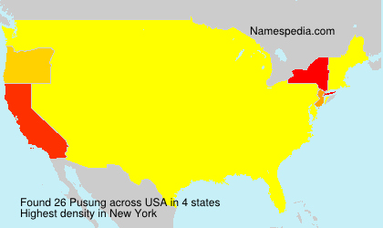Surname Pusung in USA