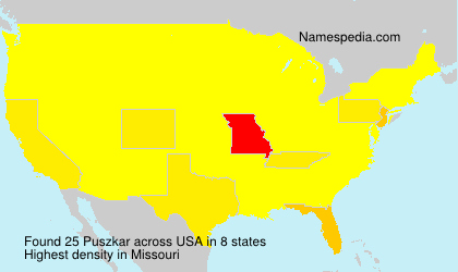 Familiennamen Puszkar - USA