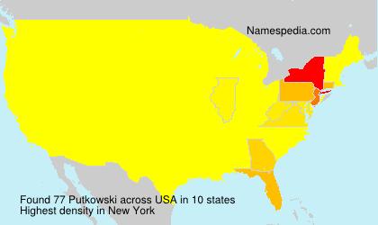 Surname Putkowski in USA