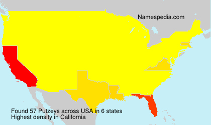 Surname Putzeys in USA