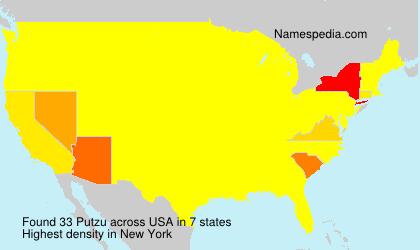 Surname Putzu in USA