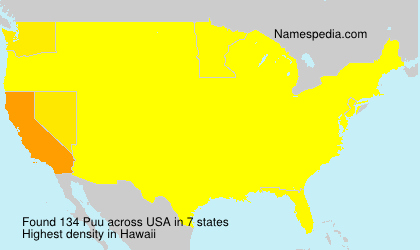 Surname Puu in USA