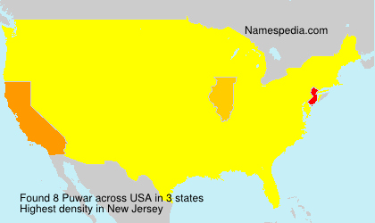 Surname Puwar in USA