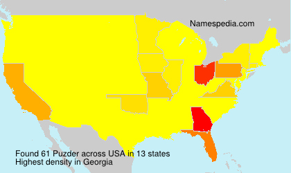 Surname Puzder in USA