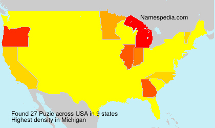 Surname Puzic in USA