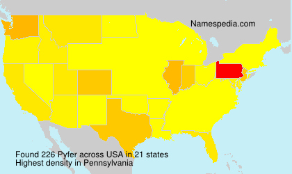 Surname Pyfer in USA