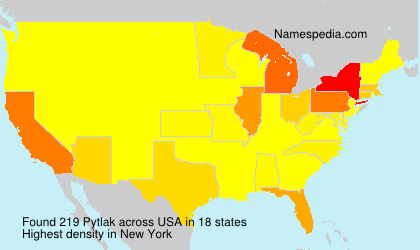 Surname Pytlak in USA
