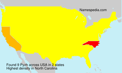 Surname Pyzh in USA